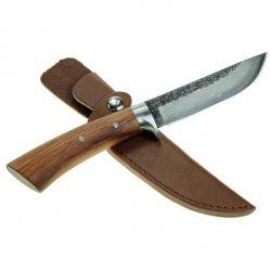 myśliwski nóż ze stali damasceńskiej